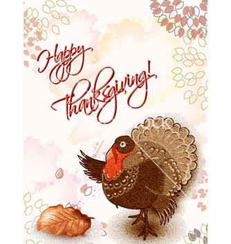 Free happy thanksgiving day with turkey vector - Free vector #229657