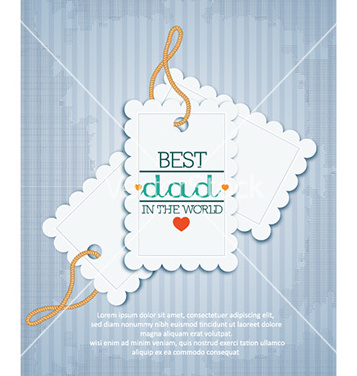 Free fathers day vector - Free vector #229797