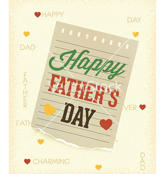 Free fathers day vector - Free vector #229817