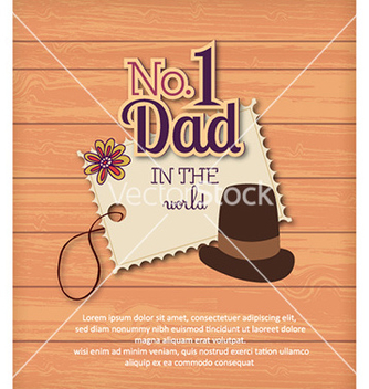 Free fathers day vector - Free vector #230397