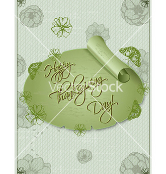 Free happy thanksgiving day with sticker vector - Free vector #230467