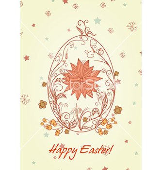 Free egg with floral vector - Kostenloses vector #230887