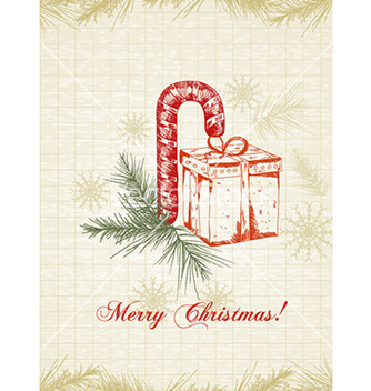 Free christmas with gift vector - Kostenloses vector #230927
