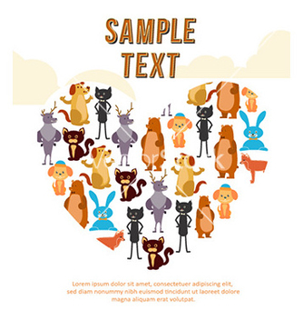 Free animal heart background vector - vector #231057 gratis