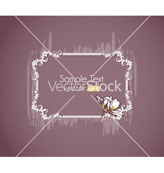 Free floral frame vector - Kostenloses vector #231497