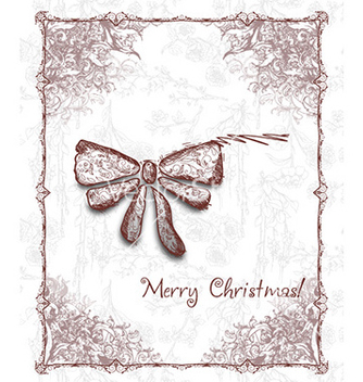 Free christmas with bow vector - vector #231587 gratis
