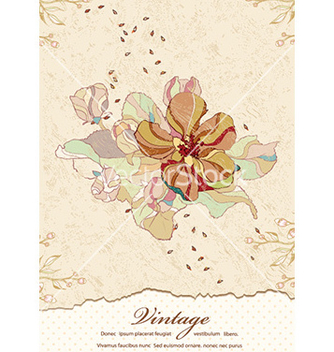 Free vintage floral background vector - Free vector #231787