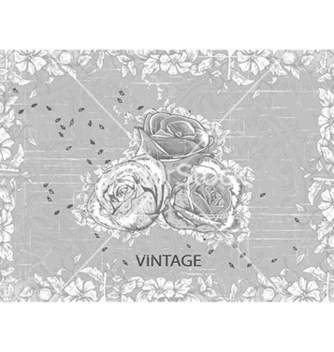 Free floral with grunge vector - vector #231867 gratis