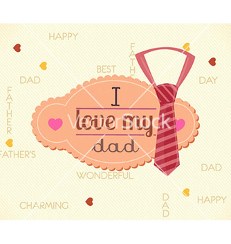 Free fathers day vector - Kostenloses vector #232007