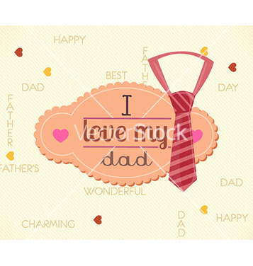 Free fathers day vector - Free vector #232007