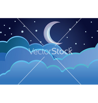 Free half moon background vector - vector gratuit #232697