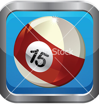 Free pool ball icon vector - Kostenloses vector #232857
