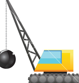 Free wrecking ball vector - vector gratuit #232887