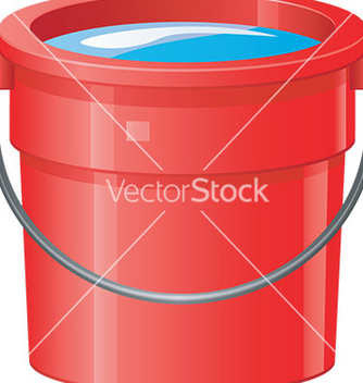 Free cartoon bucket vector - vector #232907 gratis