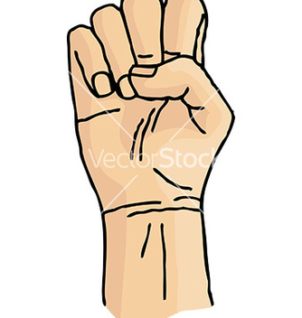 Free cartoon hand gesture vector - бесплатный vector #232927