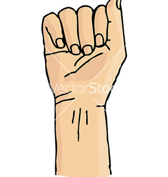 Free cartoon hand gesture vector - бесплатный vector #232937