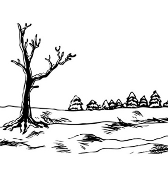 Free winter landscape vector - бесплатный vector #232947