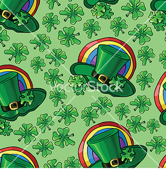 Free pattern with hat and clover vector - бесплатный vector #233007