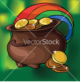 Free a pot and clover vector - vector gratuit #233047