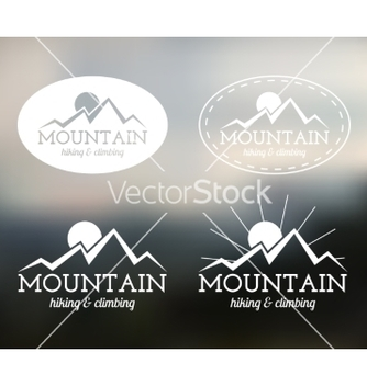 Free set of summer mountain camp badge logo and label vector - Free vector #233087