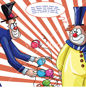 Free card with clowns for text vector - vector #233167 gratis