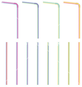 Free colorful straws vector - Kostenloses vector #233197