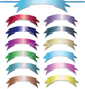 Free set of design elements banners ribbons vector - Free vector #233247