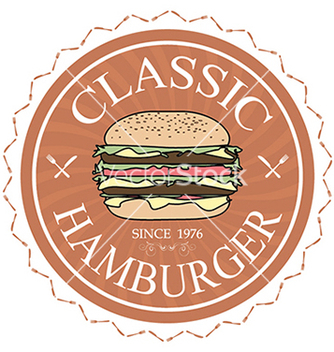Free classic hamburger label stamp banner design vector - vector #233317 gratis