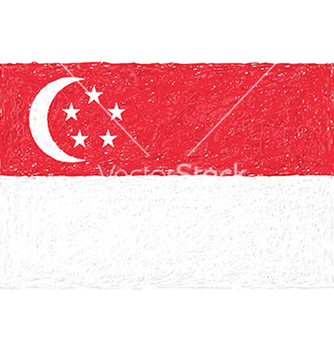 Free hand drawn of flag of singapore vector - Kostenloses vector #233337
