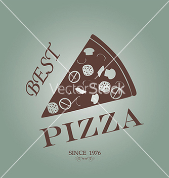 Free pizza label stamp banner design element vector - Free vector #233347