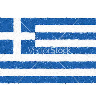 Free hand drawn of flag of greece vector - vector gratuit #233397