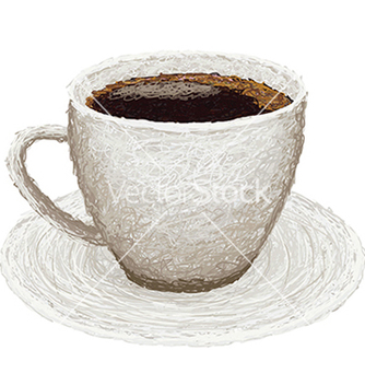 Free closeup of a hot coffee on a plate vector - Free vector #233407