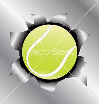 Free tennis thru metal sheet vector - Free vector #233467