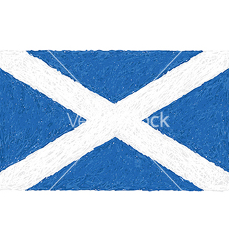 Free hand drawn of flag of scotland vector - бесплатный vector #233487