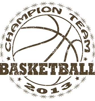 Free basketball label vector - vector gratuit #233517