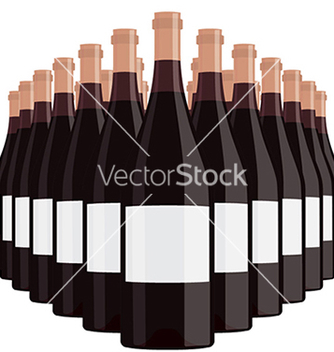 Free bottles of wine with blank label isolated in white vector - Kostenloses vector #233567
