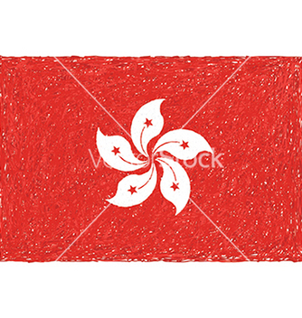 Free hand drawn of flag of hong kong vector - Kostenloses vector #233687