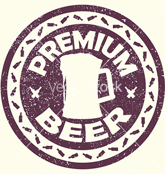 Free vintage purple beer label stamp with text premium vector - бесплатный vector #233717