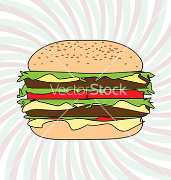 Free classic hamburger design element vector - Free vector #233777