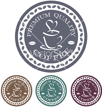 Free premium quality coffee label stamp design element vector - vector gratuit #233837