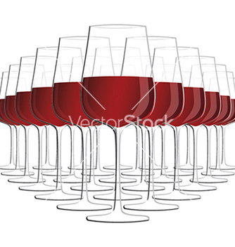 Free glass of red wine isolated in white background vector - Kostenloses vector #233867