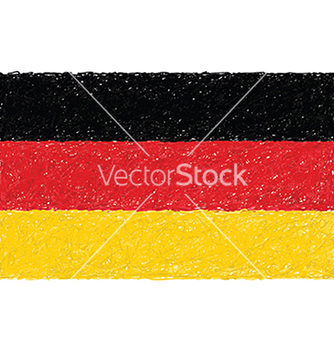 Free hand drawn of flag of germany vector - Free vector #233877