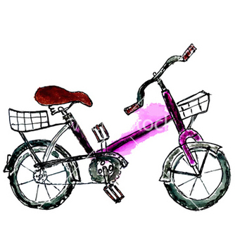 Free painted bicycle vector - Free vector #233967