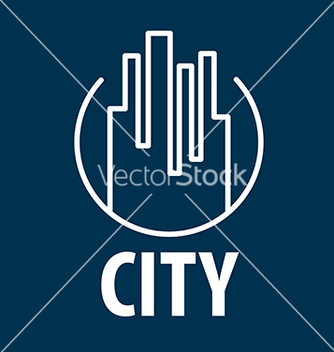Free logo outline night city vector - vector gratuit #234067