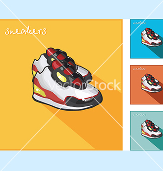 Free icons with sneakers vector - vector gratuit #234107