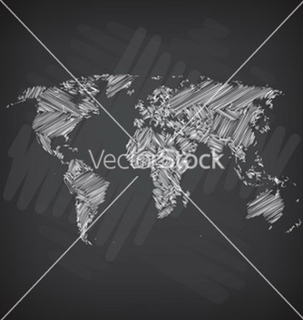 Free sketchy world map vector - бесплатный vector #234147