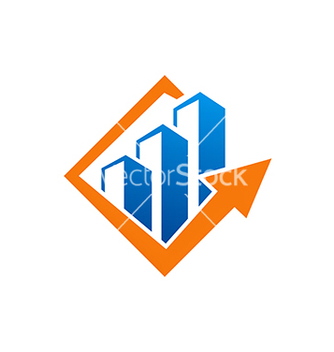Free business building arrow logo vector - бесплатный vector #234187