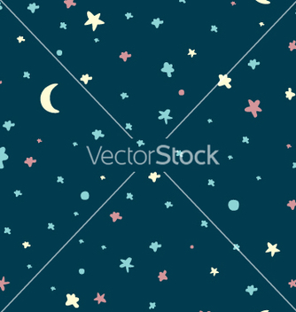 Free night sky pattern vector - vector #234247 gratis