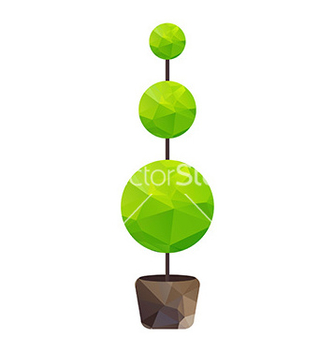 Free triangle tree in pot vector - vector gratuit #234327