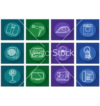Free home appliances iconsflat vector - Free vector #234467